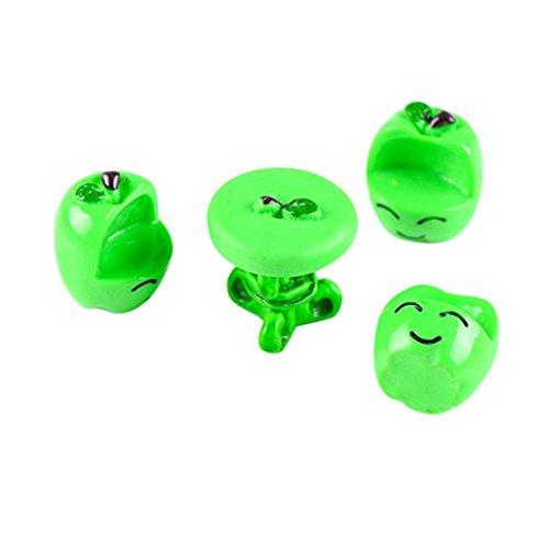 Hunpta Résine miniature Fruits Tables et chaises DIY Craft accessoire de maison Accessoires de décoration de jardin, Green