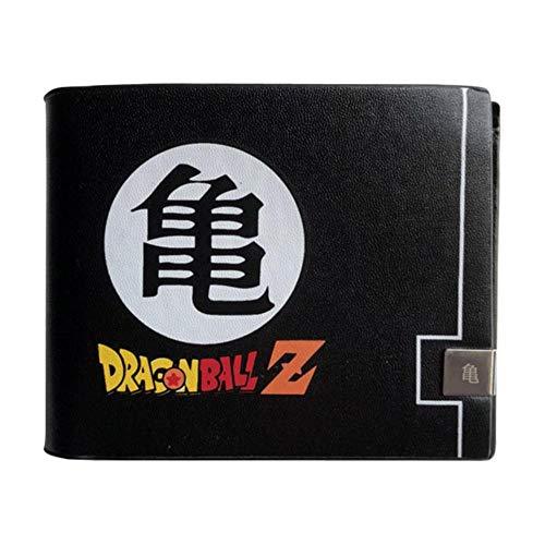 YANGPP Cartera para Hombre Monedero con Tarjetero De Identificación ID Billetera De Anime Negro, Aw-02 con Caja De Regalo