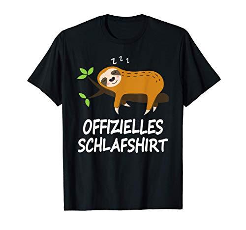 Schlafshirt Pyjama Schlafanzug Nachthemd Faultier Geschenk T-Shirt