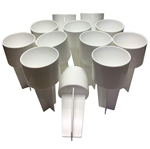 SPIKER Lifestyle Holder: for The Beach & Sofa: Holds Drinks & More. Set of 12 in All White Color, Decorate as You Wish