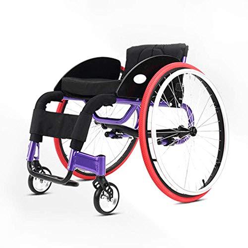 lHishop Sport-Rollstuhl Transport-Fahren Medizinischer Rollstuhl-Rückenlehne 4 Positionen Justierbar Abnehmbares 24 Zoll-Hinterrad