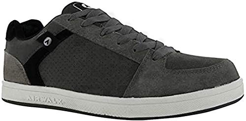 Airwalk Mens Brock Skate Shoes Lace Up Suede Accents Sport Casual Trainers Charcoal UK 12 (46)