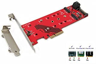 Ableconn PEXM2-11H PCI Express 3.0 x4 Carrier Adapter with Heat Sink for M.2 NVMe 110m High Power SSD - Support M.2 NGFF PCIe (NVMe or AHCI) Type 22110, 2280, 2260, 2242