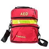 [page_title]-Milisten Erste-Hilfe-Tasche Leer Reise Rettung Defibrillator Beutel Aed Medical Bag Ersthelfer Lagerung Überleben Trauma Notfall Rucksack für Wandercamping (Rot)