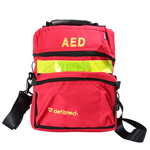ARTIBETTER First Aid Bag Empty Travel Rescue Defibrillator Pouch AED Medical Bag First Responder Storage Survival Trauma Emergency Backpack for Hiking Camping (Red)