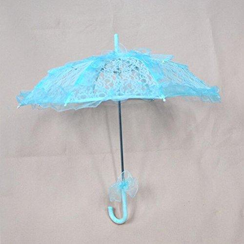 bpblgf bruiloft paraplu's handgemaakte katoenen doek kant parasol zomer paraplu voor bruidsmeisje bruidsmeisje bruidsmeisje A