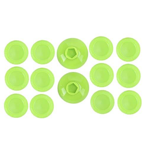 Cubierta de agarre de pulgar segura de alta calidad Material de TPU Joystick duradero Cómoda tapa basculante Altura ajustable para PS4 Gamepad(green)