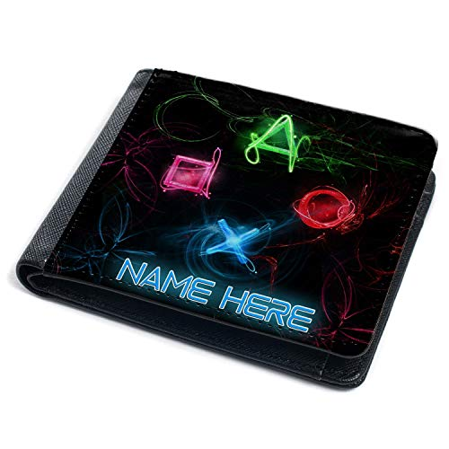 Gamer Wallet Boys Kids Bi-Fold Coin Card Holder Computer Personalised (PS...