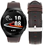 Compatible for HUAWEI Watch GT 2e Band, Blueshaw Crazy Leather Strap Replacement Band Straps for HUAWEI Watch GT2e 46mm Smartwatch (Coffee)