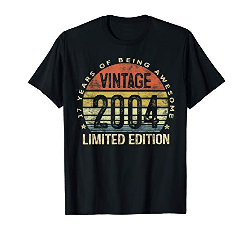 17 Year Old Gifts Vintage 2004 Limited Edition 17th Birthday T-Shirt