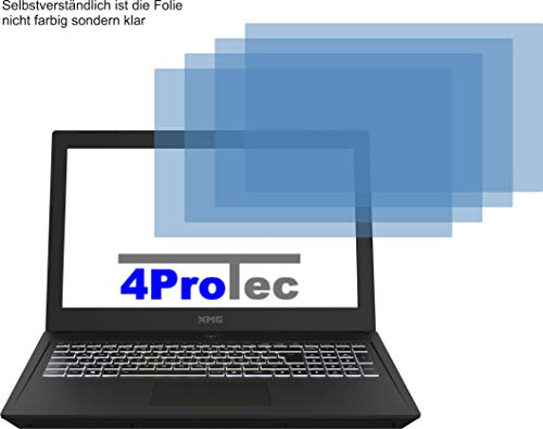 4ProTec I 4X Crystal Clear klar Schutzfolie für XMG CORE 15 L17 Bildschirmschutzfolie Displayschutzfolie Schutzhülle Bildschirmschutz Bildschirmfolie Folie