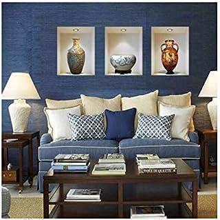 Waterproof PVC Ceramic Vase Vinyl 3D Wall Stickers Wall Decals DIY Home Decoration for Living Room Adesivo de Parede Poste...