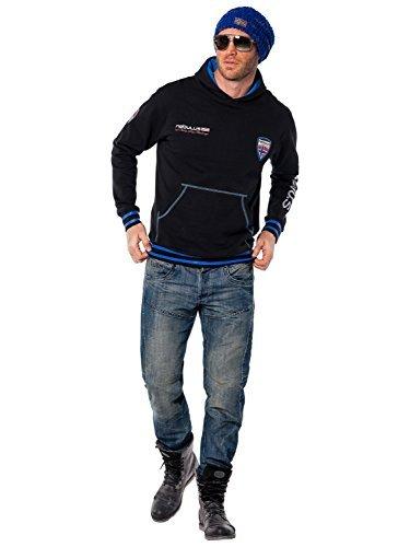 Nebulus Sweatshirt Norgay - Sudadera para Hombre, Color Negro, Talla M