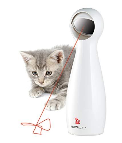 PetSafe Jouet Laser Interactif automatique pour chat FroliCat Bolt, Laser réglable avec motifs aléatoires, 2 modes de jeu, exercice stimulant, à piles (non incluses)