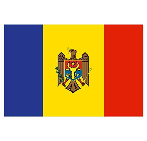 Supstick Sticker Land Vlag van de Natie Moldavie 15 x 10 cm