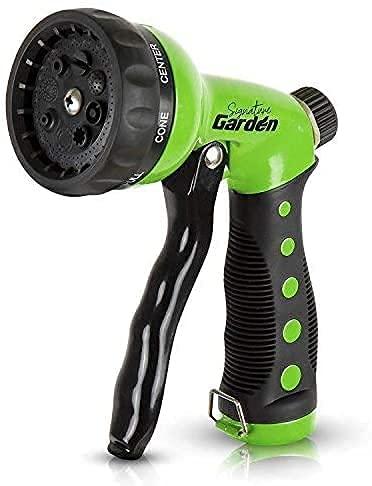 Signature Garden Heavy-Duty Nozzle, Comfort-Grip 8 Different...