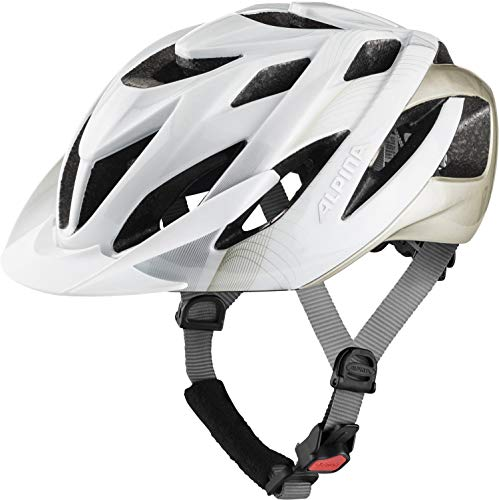 ALPINA Unisex - Erwachsene, LAVARDA Fahrradhelm, white-prosecco gloss, 52-57 cm