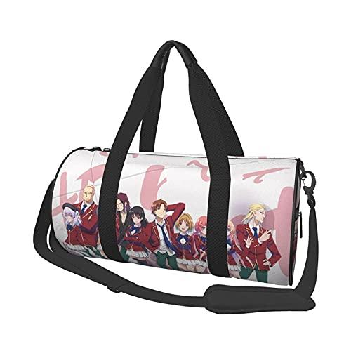 Anime Classroom of The Elite Bolsa de viaje Folle Gym Bag Bolsas de viaje, para deportes militares, camping, actividades al aire libre, conjuntos de 47 x 22 cm