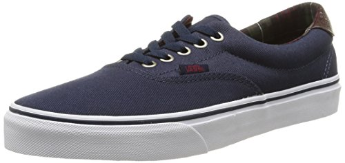 Vans Unisex ERA 59 Low-Top Sneakers, Blau (Plaid/Dress Blues), 38 EU