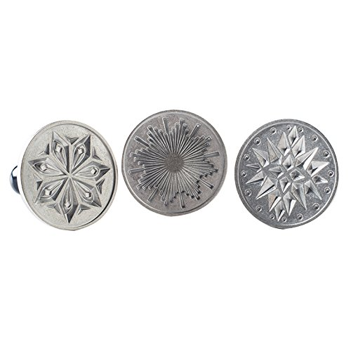 Nordic Ware Starry Night Cast Cookie Stamps, 3-inch rounds, Silver