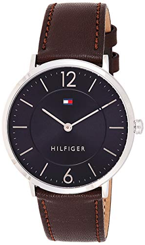Tommy Hilfiger Herren Analog Quarz Uhr mit Leder Armband 1710352