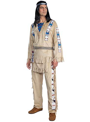 Maskworld Winnetou Kostüm - Indianer Western - Größe: L - Lizenz-Kostüme aus den Karl-May-Filmen für Karneval und Motto-Party
