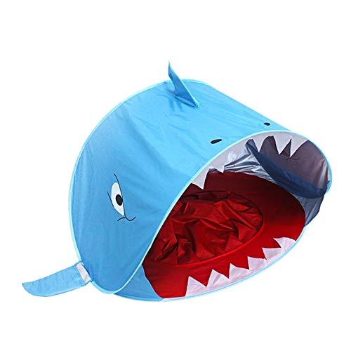 YSJJYQZ Tienda de campaña Bebé Playa Tienda Infantil Piscina tiburón portátil Impermeable Sol Refugio Tienda UV-proteja el Sol al Aire Libre Camping baza Playa (Color : A)