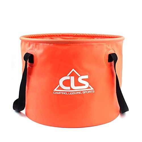 Linsition Cubo plegable para camping, cubo de agua plegable, material de PVC, impermeable y duradero, bañera de camping al aire libre, tiempo libre para el hogar, cubo de lavado de coche