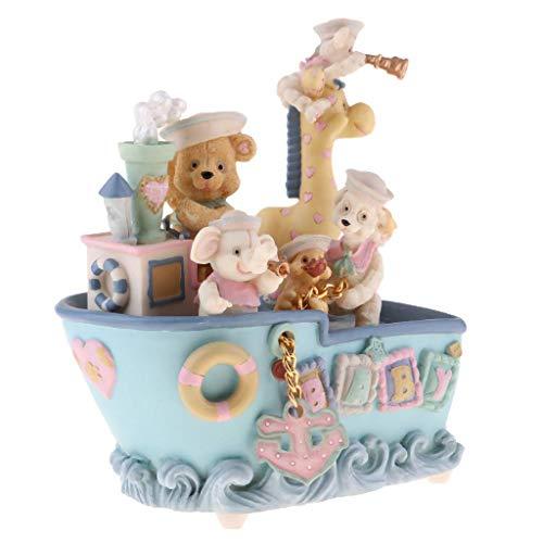 SHYPT La Caja de música - Regalo de cumpleaños del Oso del día Caja de música a Las niñas Los niños de la Infancia (13 x 13 x 17 cm)