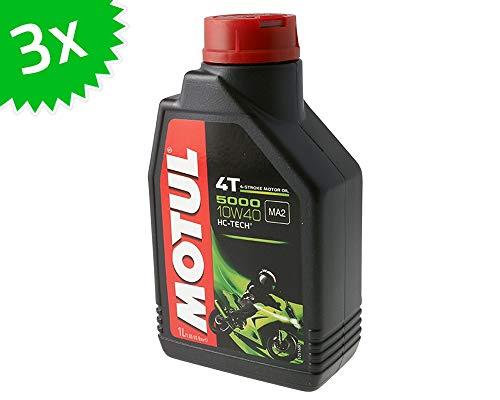 3X 1 Liter Motoröl MOTUL 4T 10W40 5000 3 Liter 4 Takt ÖL Oil OEL Roller Motorrad