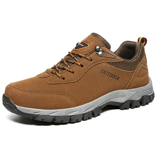 Hsyooes Trekking und Wanderschuhe für Herren Damen Outdoor rutschfest Schuhe Sport Sneakers Leichte Kletterschuhe, Braun, (Herstellergröße: 49/47.5 EU)