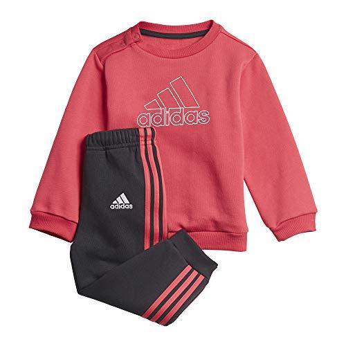 adidas I MH Log Jog FL Chándal, Unisex bebé, rosint/Blanco, 80 (9/12 Meses)