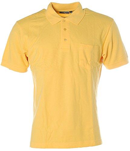 Heine Herren Kurzarm Shirt Poloshirt Pikee 48/50 gelb