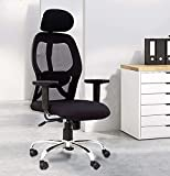 Color : Black Material: Imported Mesh | Chrome Plated Steel Base Front & Back Adjustable Lumbar Support Elegant Durable & Comfortable Armrest | Up & Down Adjustable Head Support Assembly required: Do-it-yourself.
