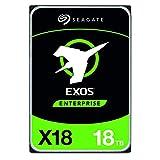 Seagate Exos X18, 18 To, Disque dur interne d'entreprise HDD, SATA, CMR 3,5', Hyperscale SATA 6 Go/s, 7200 TR/Min, 512e, 4 KB FastFormat Faible Latence avec Cache amélioré Référence (ST18000NM000J)