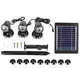 Cocosity Lámpara subacuática de luz Solar, Impermeable, Duradera, ecológica al Aire Libre para Peces, Piscina, Patio, Piscina