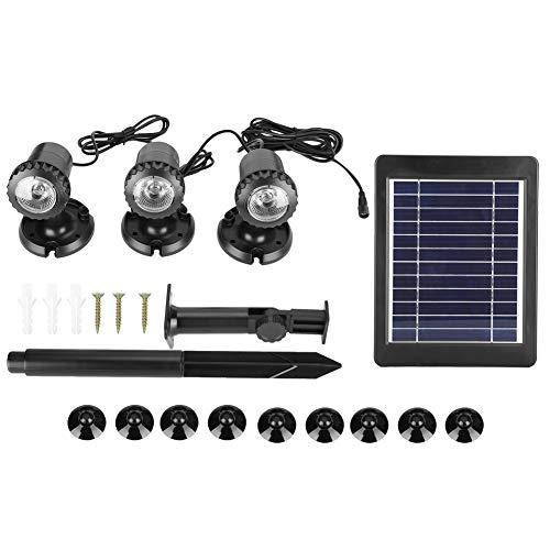 Cikonielf Equipo de lámpara subacuática de energía Solar Luces solares para estanques...