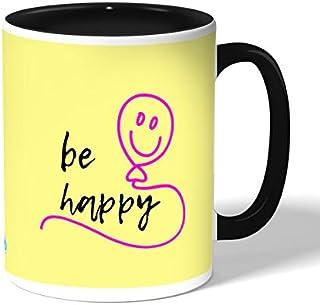 Be happy Coffee Mug by Decalac, Black - 19071