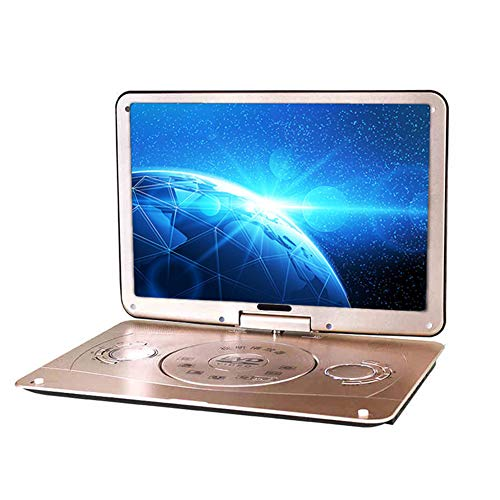 HARMON Portable DVD 18 Inch 3D Portable EVD Player Ultra-Thin High-Definition Display Built-In Battery, Remote Control And Travel Bag Included,Gold