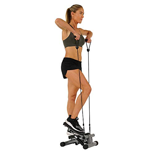Product Image 3: Sunny Health & Fitness Mini Stepper with Resistance Bands