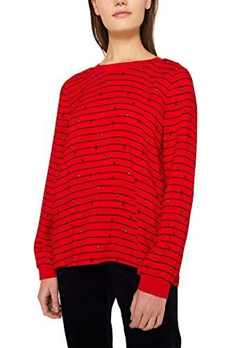 ESPRIT Damen 010EE1F309 Bluse, Rot (Dark Red 610), (Herstellergröße: 36)
