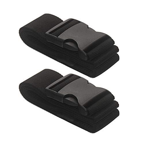 V-BEST 2 Pack Luggage Straps Belt for Suitcase, Travel Accessories Bag Straps(Black)