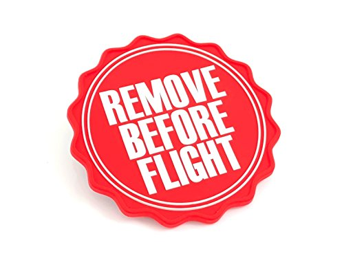 REMOVE BEFORE FLIGHT Diamètre du logo : env. 8 cm