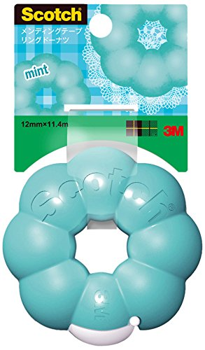3M Scotch Ring Donut Tape Dispenser - Mint Blue - 12 mm X 11.4 m