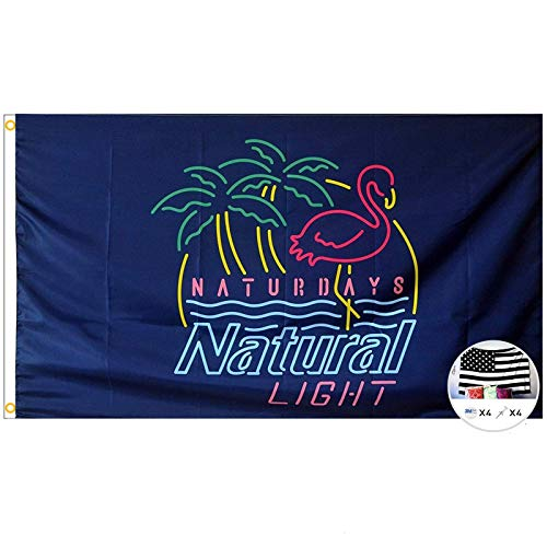 Probsin Naturdays Natural Light Flag Cool Beer Flags,3x5 Feet Banner,Funny Poster UV Resistance Fading & Durable Man Cave Wall Flag with Brass Grommets for Dorm Room Decor,Parties,Gift,Tailgates