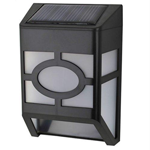 Mianbaoshu energie besparen Solar wandlamp zonnelampen voor binnen en buiten, sensor licht LED waterdichte weerbestendige zonnelamp intelligente modi voor tuin, balkon, magazijn, buitenmuur