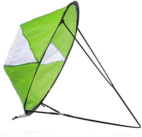 Zealhot Kajak Wind Segel 42 Zoll Kit Kajak Kayak Paddle Board Zubehör, einfache Einrichtung und schnelle Bereitstellung (Grün)
