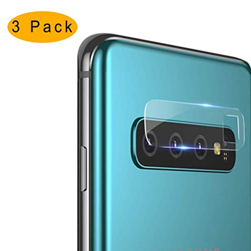 Samsung Galaxy S10 / S10 Plus Camera Lens Protector, 【3PACK】 Camera Lens Tempered Glass Protector Film Camera Lens Protection Compatible for Samsung Galaxy S10 Plus/S10/S10+ (HD, Bubble-Free)