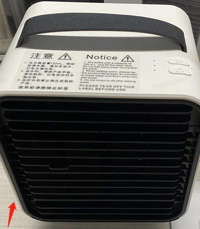 Mini Enfriador de Aire NASUM, Mini Aire Acondicionado Portátil, 3 en 1 Enfriador de Aire USB, Refrigeración, Purificación, Humidificación, Utilizado en Escritorios, Habitaciones, Oficinas