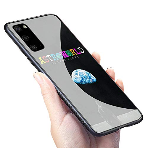 GUOZHAO Galaxy S20 Ultra Cover Case,GZA-69 Travis Scott Astroworld Tempered Glass Case and Soft Silicone Rubber Bumper Frame for Scratch-Resistant and Anti-Scratch Absorption